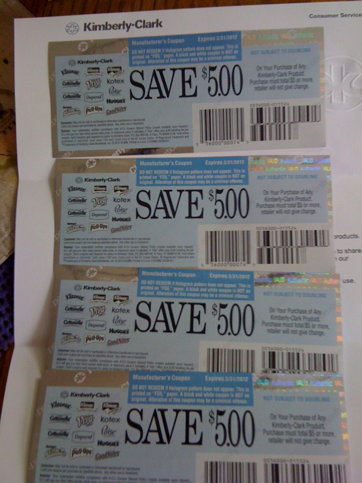 kimberly clark coupons by mail