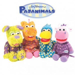 set-of-4-jim-henson39s-pajanimals-characters-plush-toy-dolls-by-tomy-choose-from-small-or-large
