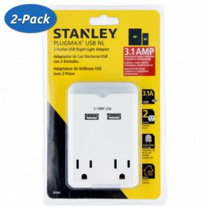 2-pack-stanley-plugmax-2-usb-2-outlet-31amp-night-light-fast-charging-adapter