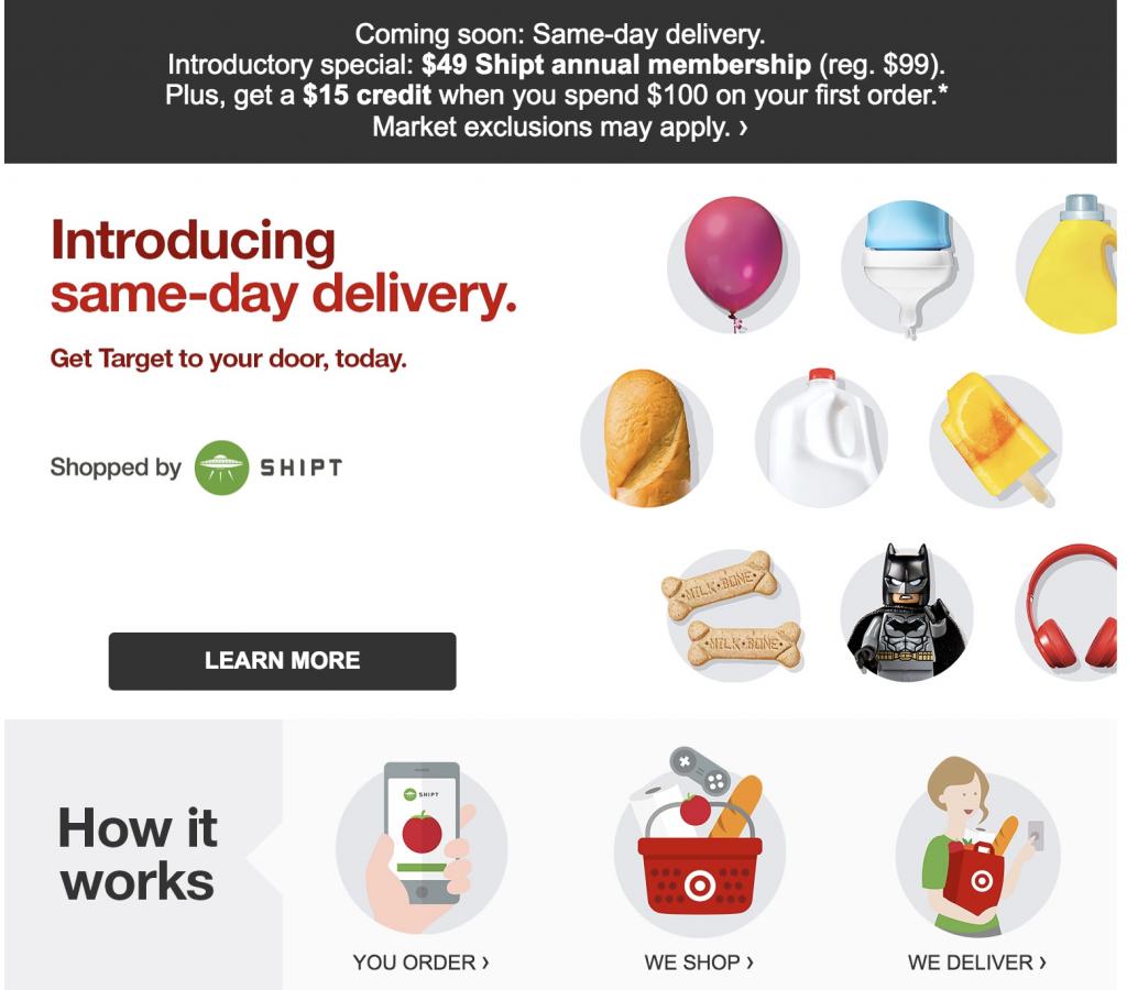 Target Same-Day Delivery Update - deranged.mederanged.me