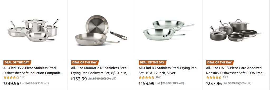 All-Clad Cookware Sets on Gold Box - deranged mederanged me
